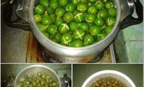 cara membuat manisan buah tin