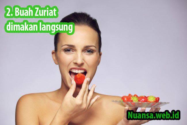 cara makan buah zuriat