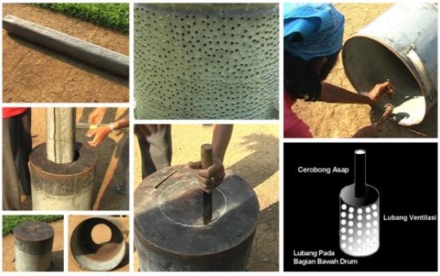 cara praktis membuat arang sekam padi